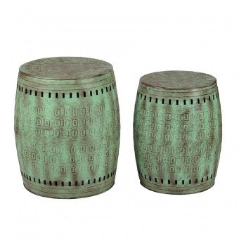 Artisan Pressed Metal Stool- Small