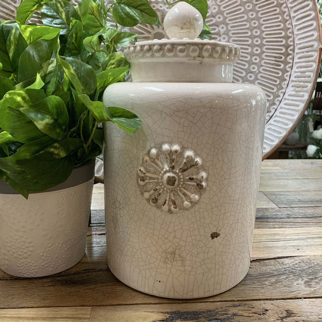 Decorative Jar with Lid-Large