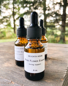 Flower Essence - Rose Flower Essence - Rose Flower Remedy - 4th Chakra Support - Heart Chakra Support - Rose Flower Elixir - Flower Essence