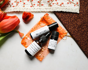 WellSoul Collection - Limited Edition November Nurture Diffuser Set - German Chamomile Flower Essence - Carnelian Gem Stone - Aromatherapy Roller Bottle - Aromatherapy Diffuser Blend