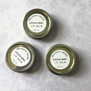Lip Balm - Cocoa Mint Lip Balm - Natural Lip Balm - Lip Balm Tin - Natural Lip Gloss - Chocolate Lover's Lip Balm - Mint Lip Balm