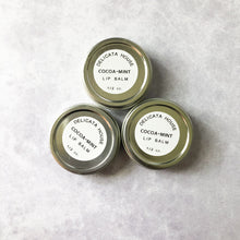 Load image into Gallery viewer, Lip Balm - Cocoa Mint Lip Balm - Natural Lip Balm - Lip Balm Tin - Natural Lip Gloss - Chocolate Lover's Lip Balm - Mint Lip Balm
