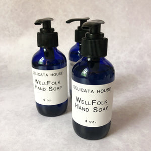 WellFolk Hand Soap - Aromatherapy Hand Soap - Antimicrobial Hand Soap - Self-Care Gift