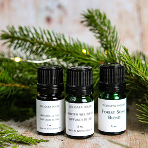 Aromatherapy Blends - Winter Sinus Health Bundle - Winter Wellness Diffuser Bundle - Diffuser Set of Three - Aromatherapy for Sinus Health - Aromatherapy Bundle