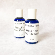 Load image into Gallery viewer, Hand Sanitizer - WellFolk Hand Cleanser - Waterless Hand Sanitizer - Aromatherapy Hand Cleaner - Hand Care Gift - Antimicrobial Hand Sanitizer