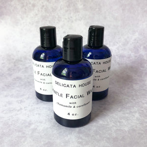 Gentle Facial Wash with Chamomile & Cornflower - Sensitive Skin Facial Wash - Gentle Skin Cleanser - Sensitive Skin Cleanser