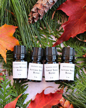 Load image into Gallery viewer, Diffuser Blends - Autumn Aromatherapy Set of Four - Autumn Wellness - Autumn Nights - Autumn Spice - Forest Song - Fall Diffuser Blends for Immune Support