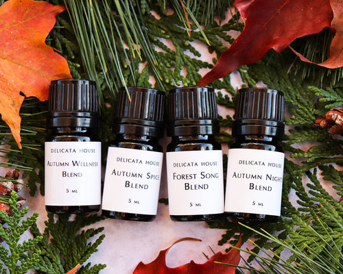 Diffuser Blends - Autumn Aromatherapy Set of Four - Autumn Wellness - Autumn Nights - Autumn Spice - Forest Song - Fall Diffuser Blends for Immune Support