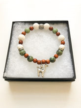 Load image into Gallery viewer, Alpaca Charm Diffuser Bracelet with African Turquoise Jasper