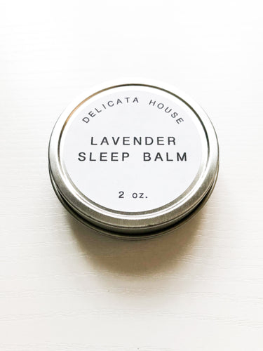 Lavender Sleep Balm / Aromatherapy for Sleep / Natural Sleep Aid / Lavender for Sleep / Sleep Balm Travel Tin / Sleep Self-Care / Lavender Lover's Gift /
