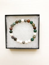 Load image into Gallery viewer, Indian Agate Aromatherapy Diffuser Bracelet