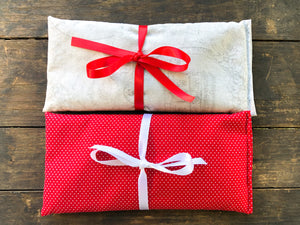 Flax and Lavender Eye Pillow Gift Set of 2