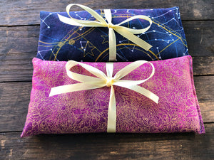 Flax and Lavender Eye Pillow Set of 2