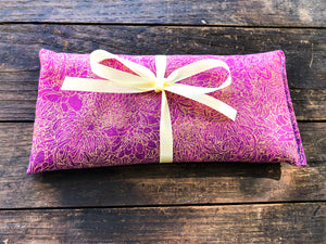 Eye Pillow for Yoga & Meditation / Flax & Lavender Microwaveable Eye Pillow / For Headache Relief / Yoga Lover Gift / Eye Pillow for Relaxation