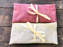 Load image into Gallery viewer, Flax and Lavender Eye Pillow 2 Pack Gift Set