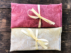 Flax and Lavender Eye Pillow 2 Pack Gift Set