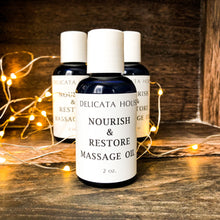 Load image into Gallery viewer, Massage Oil - Restorative Massage Oil - Self-Massage Oil - Abhyanga Oil - Nourish and Restore Aromatherapy Massage Oil