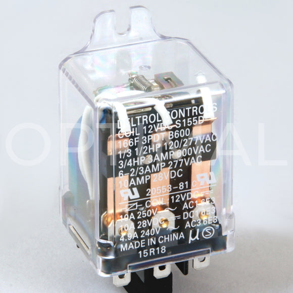 20553-81 Deltrol Relay 166F 12VDC 13A Side Flange