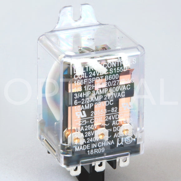 20553-82 Deltrol Relay 166F 24VDC 13A Side Flange
