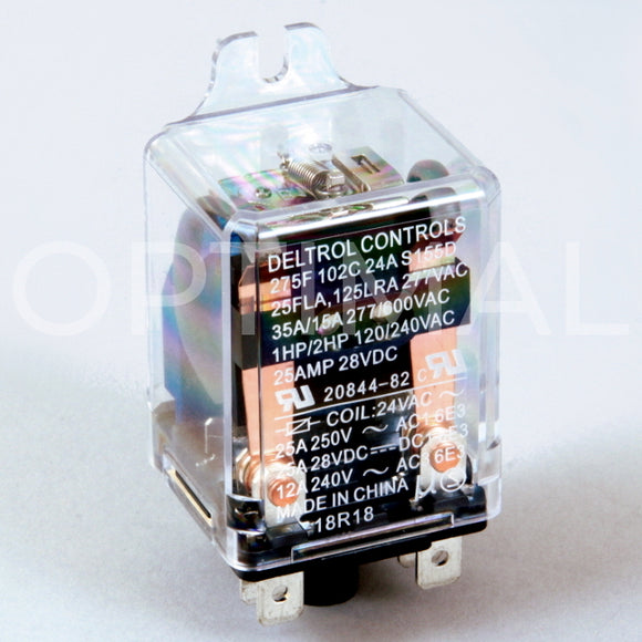 20844-82 Deltrol Relay 275F 24VDC 35A Side Flange