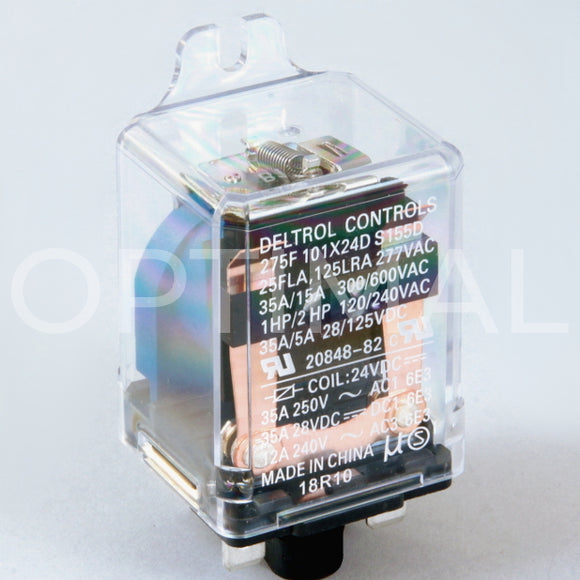 20848-82 Deltrol Relay 275F 24VDC 35A Side Flange