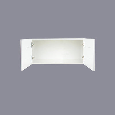 "White Shaker Wall Cabinet with Two Doors 18""H"