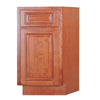 Wine Maple Base End Cabinet with One Door