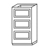 Ivory White Drawer Base Cabinet 12-24@
