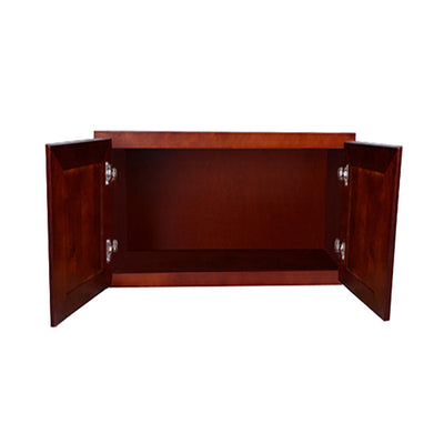 "Cherry Rope Wall Cabinet 12 Deep 18""H"