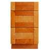 Honey Spice Drawer Base Cabinet 12-24