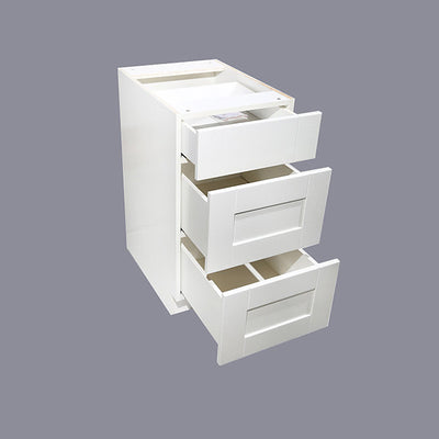 White Shaker Drawer Base Cabinet 12-24