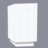 White Shaker Wall End Cabinet