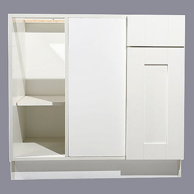 White Shaker Base Blind Cabinet 36-42 L/R