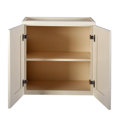 "Cream White Wall Cabinet 12"" Deep 24""H@"