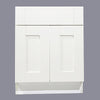 White Shaker Sink Base Cabinet 27-33