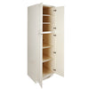 Cream White Pantry Cabinet with Four Doors@