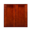 "Cherry Shaker Wall Cabinet with Two Doors 24""H"