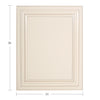 Cream White Base Dummy Door@