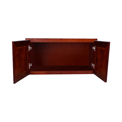 "Cherry Rope Wall Cabinet 12"" Deep 15""H"