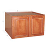 "Wine Maple Wall Cabinet with Two Doors 24""H"
