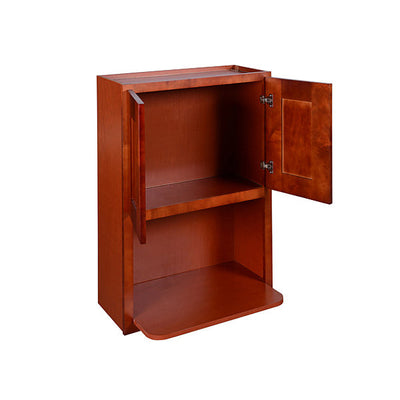 Cherry Shaker Wall Microwave Cabinet