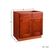 Cherry Shaker Sink Base Cabinet with Two Drawers & Two Doors