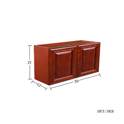 "Cherry Maple Wall Cabinet 12"" Deep 21""H @"