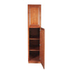 Wine Maple Pantry Cabinet with Two Doors
