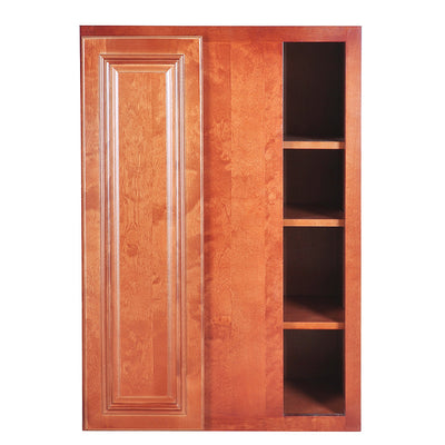 Wine Maple Wall Blind Corner Cabinet