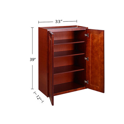 Cherry Maple Wall Cabinet 12 Deep 39H @