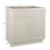 Cream White Base Cabinet 33-36@