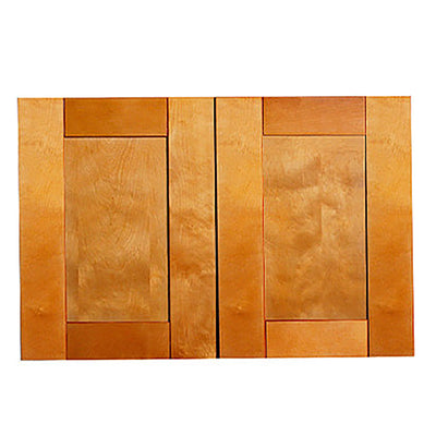 "Honey Spice Wall Cabinet with Two Doors 21""H"