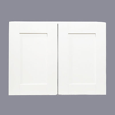 "White Shaker Wall Cabinet with Two Doors 21""H"