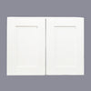 "White Shaker Wall Cabinet with Two Doors 24""H"